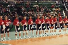 Teamfoto-dames-1991-EK-Italie-1991-line-up-halve-finale-Nederland-Italie