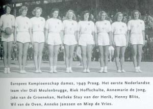 EK 1949 Praag Het eerste Ned Team