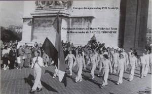 EK Frankrijk 1951 Arc De Triomphe Dames en Heren