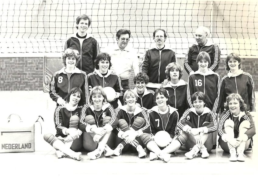 Teamfoto Dames 1980