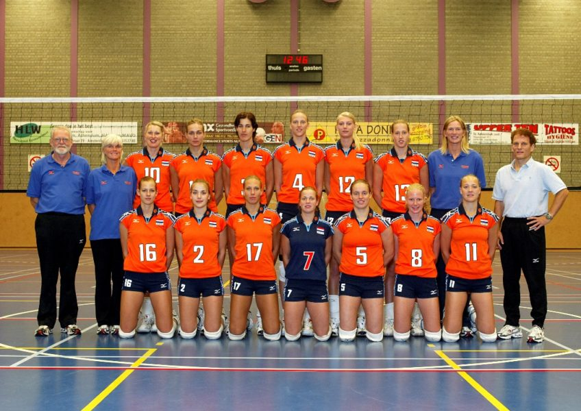 Teamfoto dames 2004 Nederlands Volleybalteam