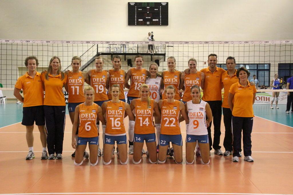 Teamfoto dames 2012 European League Griekenland zomer 2012