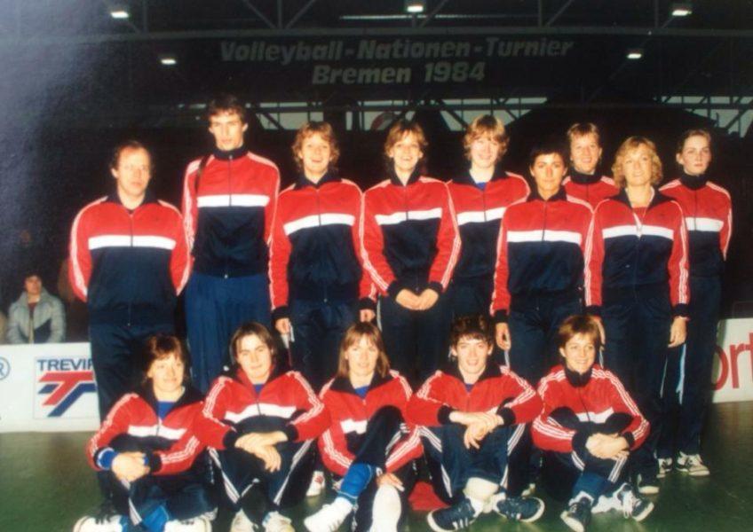 Teamfoto dames 1984