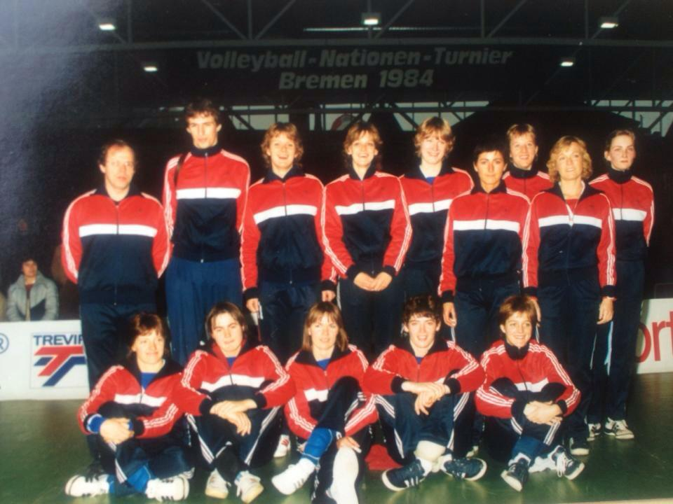 Teamfoto dames 1984