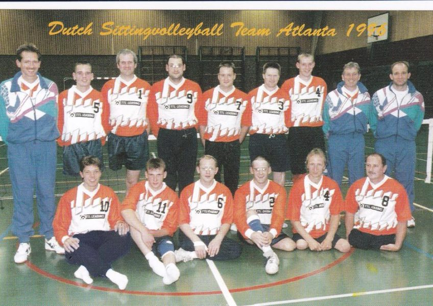 Teamfoto heren 1996 zitvolleybal