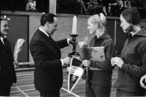 Afscheid Hilda van Gulik in 1968.