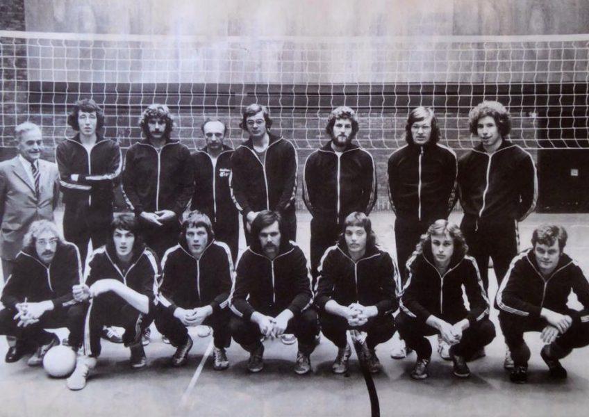 Teamfoto heren 1975 Kwalificatie voor plaatsing EK.