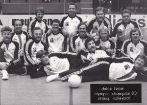 Dutch Olympic Team 1980 De eerste keer dat zitvolleybal op de spelen kwam
