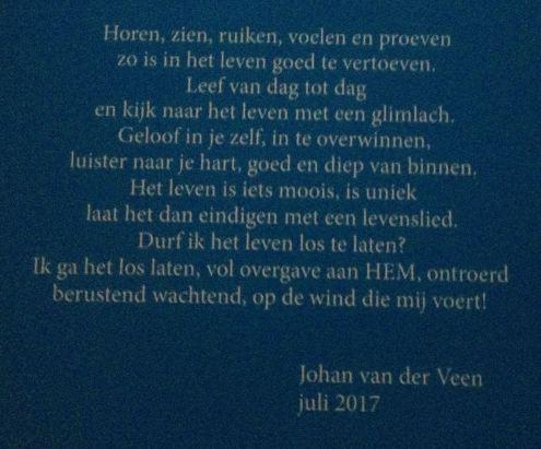 Afscheid Johan van der Veen