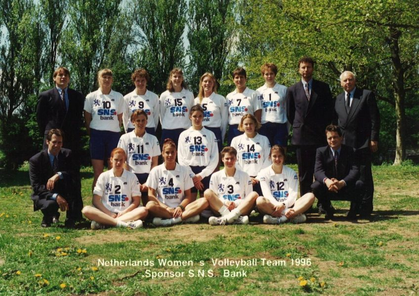 Teamfoto dames 1996