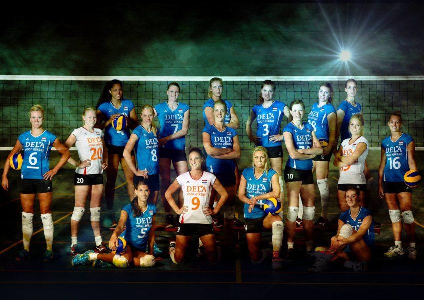 Co za37 Flitsend Nederlands Volleybal Damesteam Selectie 2013