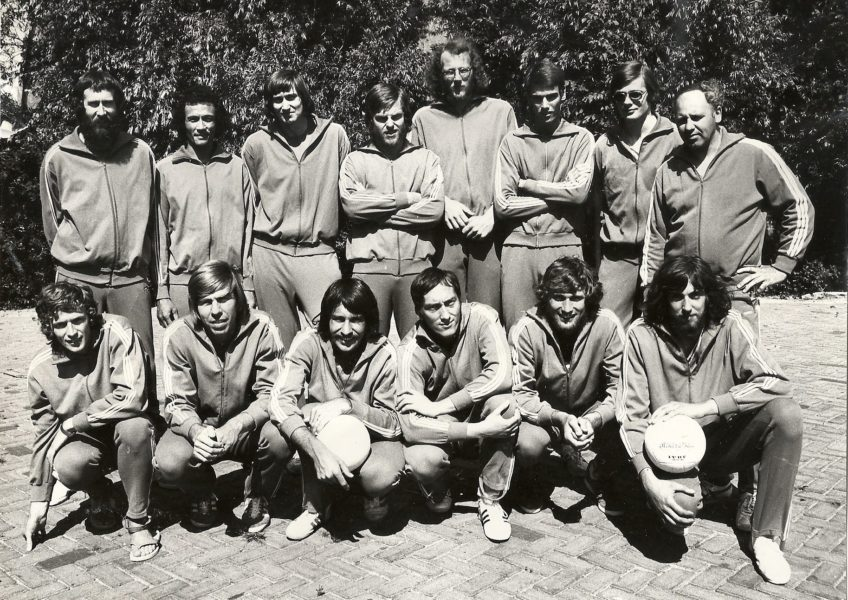 Co za42 Selectie Nederlands Heren Volleybal Team rond 1971