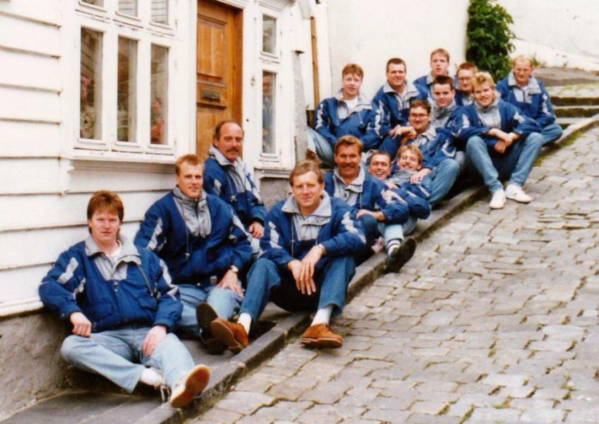 1991 zitvolleybal Nederlands Heren Zitvolleybal Team EK Nottinham 1991.