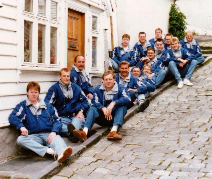 1991 zitvolleybal Nederlands Heren Zitvolleybal Team EK Nottinham 1991.