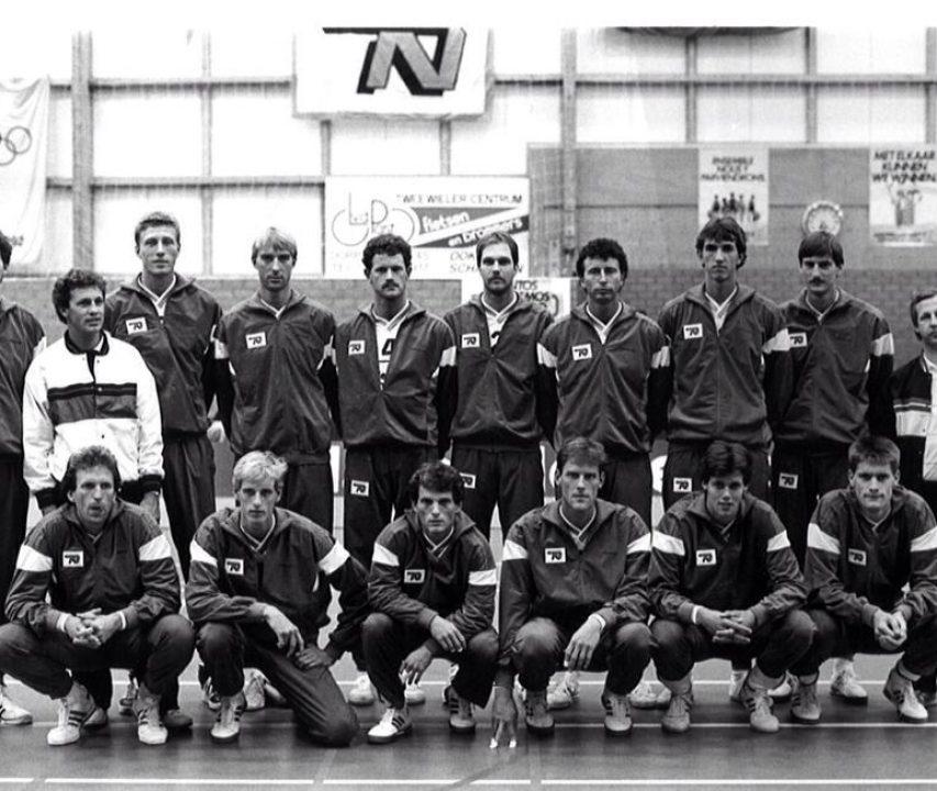 Co tje 9 Nederlands Heren volleybalteam 1986 Interim BC Peter Murphy
